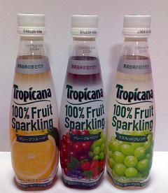 果汁100%の炭酸飲料!